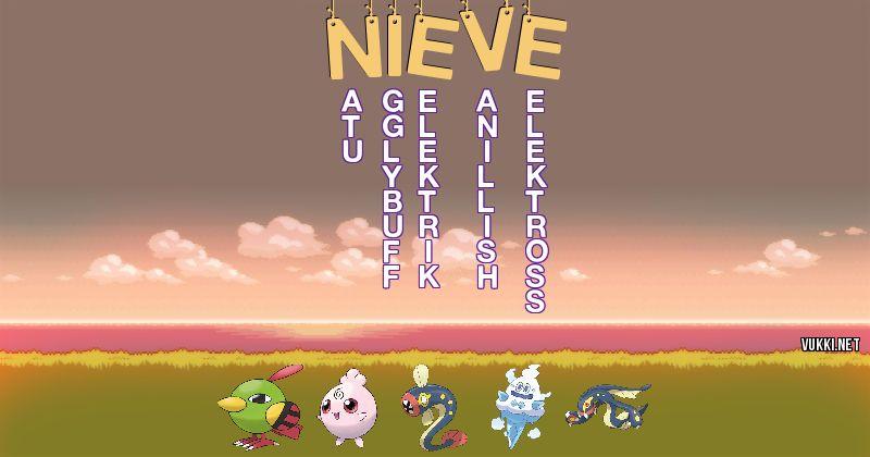 Los Pokémon de nieve - Descubre cuales son los Pokémon de tu nombre