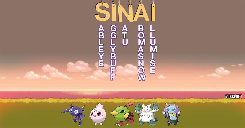 Los Pokémon de sinai - Descubre cuales son los Pokémon de tu nombre