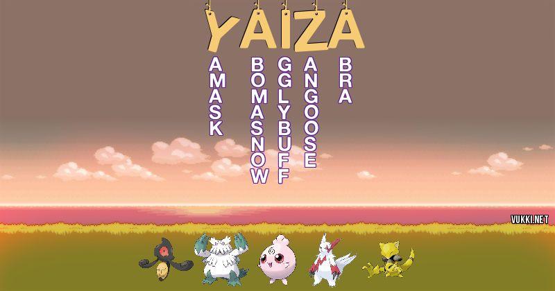 Los Pokémon de yaiza - Descubre cuales son los Pokémon de tu nombre