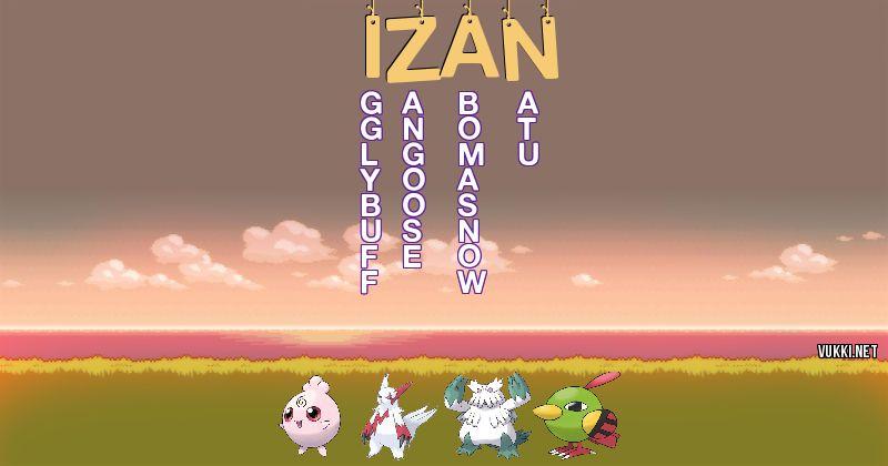 Los Pokémon de izan - Descubre cuales son los Pokémon de tu nombre
