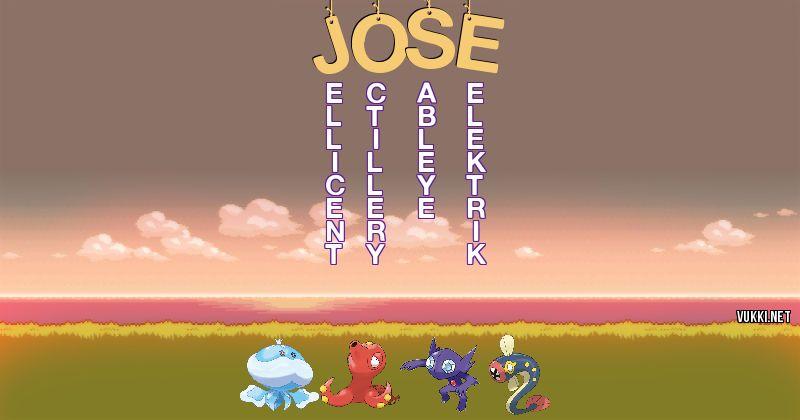 Los Pokémon de jose - Descubre cuales son los Pokémon de tu nombre