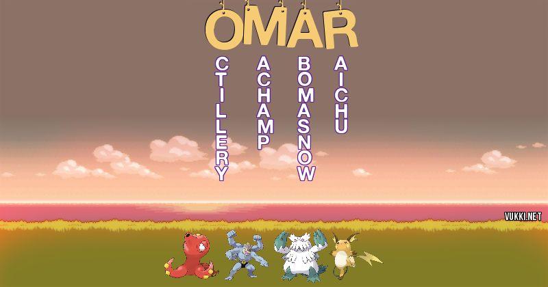 Los Pokémon de omar  - Descubre cuales son los Pokémon de tu nombre