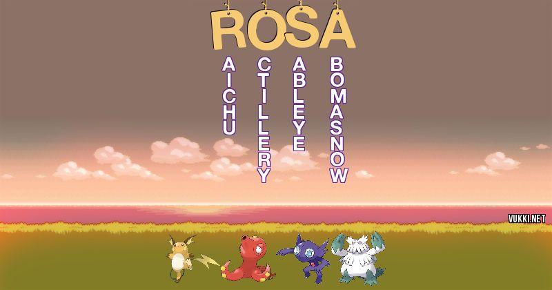 Los Pokémon de rosa - Descubre cuales son los Pokémon de tu nombre