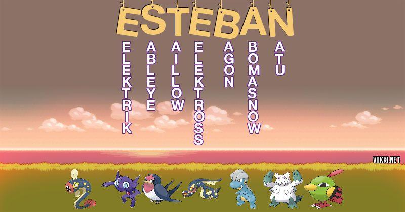 Los Pokémon de esteban - Descubre cuales son los Pokémon de tu nombre