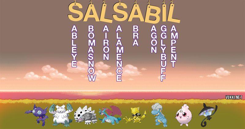 Los Pokémon de salsabil - Descubre cuales son los Pokémon de tu nombre