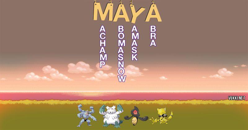 Los Pokémon de maya - Descubre cuales son los Pokémon de tu nombre