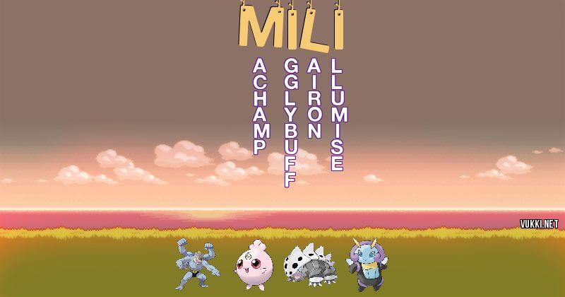 Los Pokémon de mili - Descubre cuales son los Pokémon de tu nombre