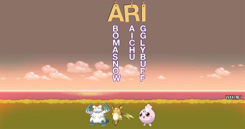 Los Pokémon de ari - Descubre cuales son los Pokémon de tu nombre