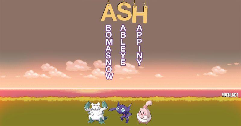 Los Pokémon de ash - Descubre cuales son los Pokémon de tu nombre