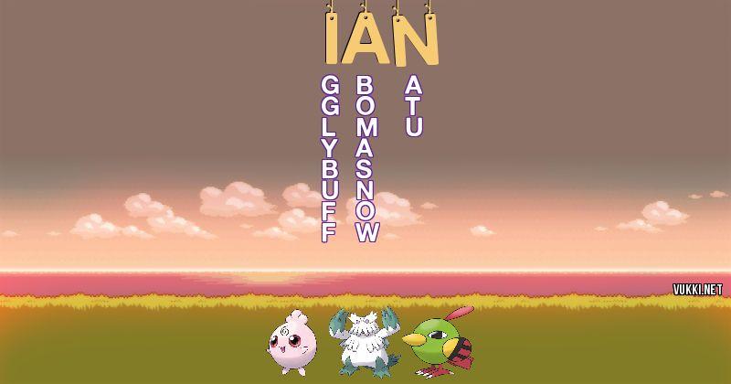 Los Pokémon de ian - Descubre cuales son los Pokémon de tu nombre