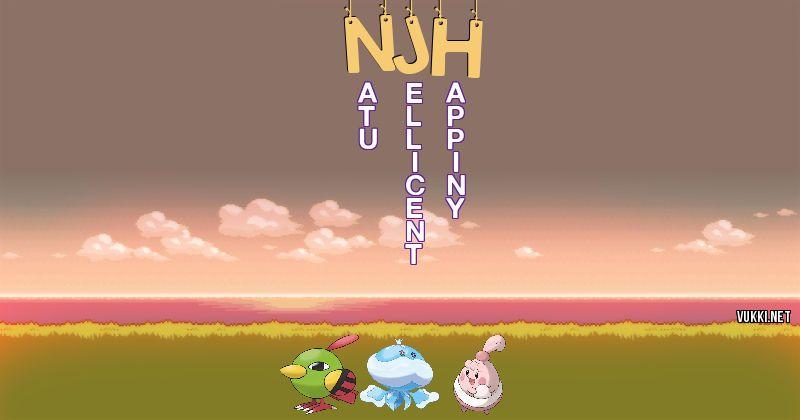 Los Pokémon de njh - Descubre cuales son los Pokémon de tu nombre