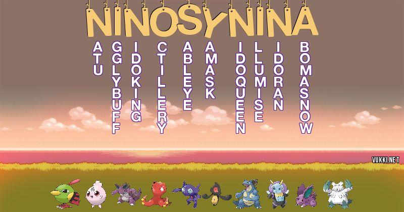 Los Pokémon de niños y niña - Descubre cuales son los Pokémon de tu nombre