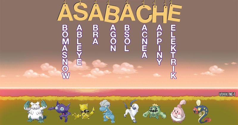 Los Pokémon de asabache - Descubre cuales son los Pokémon de tu nombre
