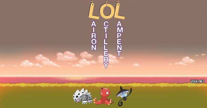 Los Pokémon de lol - Descubre cuales son los Pokémon de tu nombre
