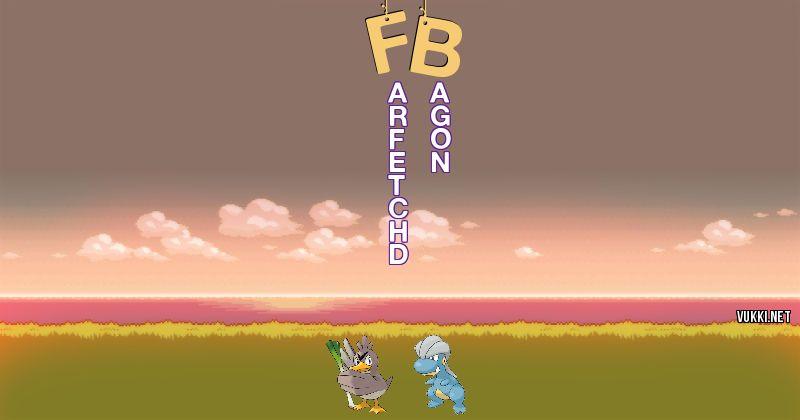 Los Pokémon de fb - Descubre cuales son los Pokémon de tu nombre