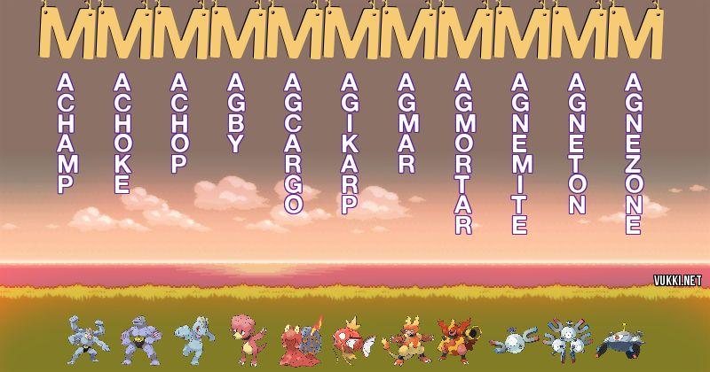 Los Pokémon de mmmmmmmmmmm - Descubre cuales son los Pokémon de tu nombre