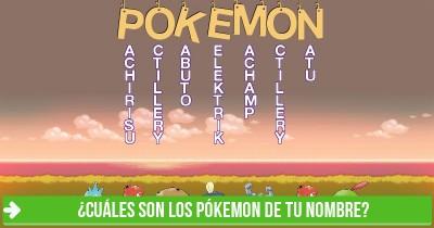 ¿Cuáles son los Pókemon de tu nombre?