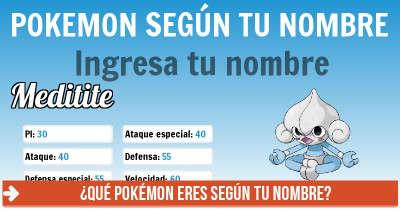 Qué Pokémon eres según tu nombre