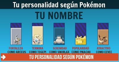 Tu personalidad según Pokémon
