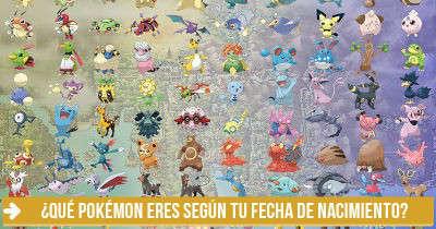 ¿Qué Pokémon eres según tu fecha de nacimiento?